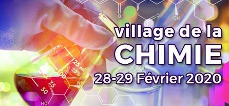 Village de la Chimie et des Sciences du Vivants – 28 et 29 février 2020- Parc Floral de Paris